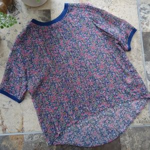 Anthropologie Top Sz S One Fine Day Posy Silk